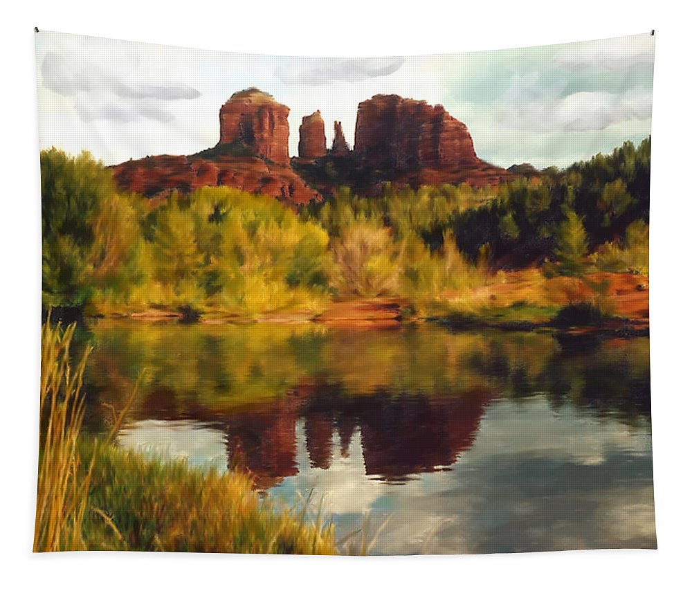 Sedona Tapestry featuring the photograph Sedona by Kurt Van Wagner