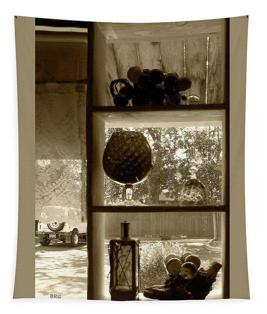 Window Tapestry featuring the photograph Sedona Series - Window Display by Ben and Raisa Gertsberg