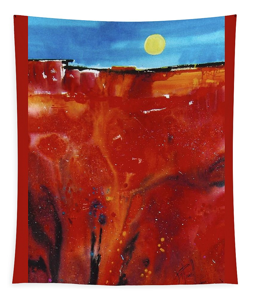 Abstract Tapestry featuring the painting Sedona Sun Rise by George Powell