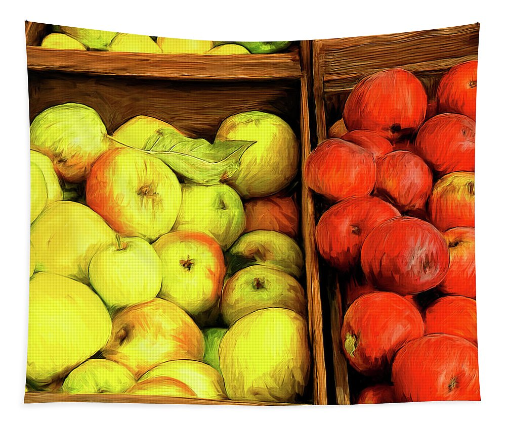 Apples Tapestry featuring the painting See Canyon Apples by Dominic Piperata