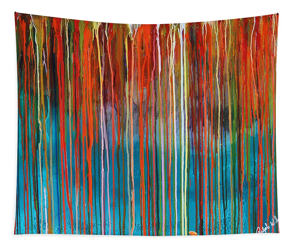 Fusionart Tapestry featuring the painting Seed by Ralph White