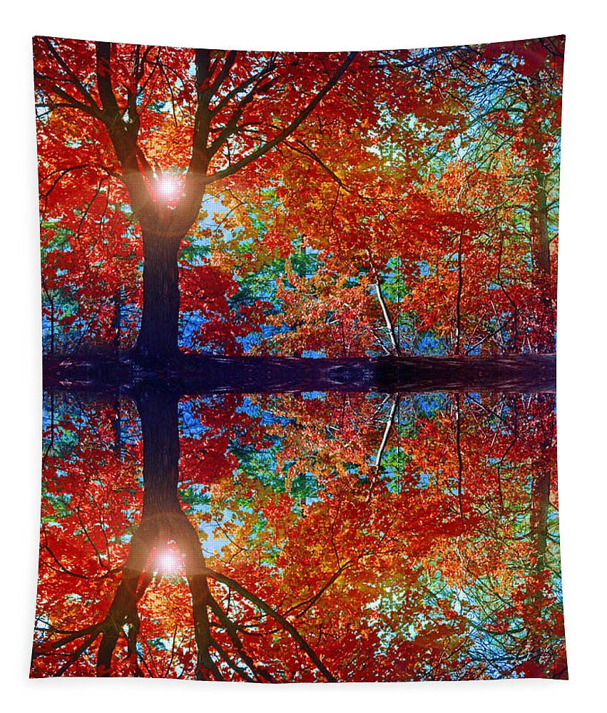 Tree Tapestry featuring the photograph Seeing Red by Tara Turner