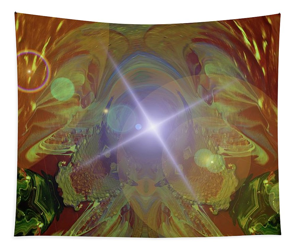 Abstract Tapestry featuring the photograph Seeing The Light by Jeff Swan