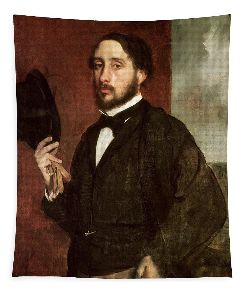 Self Portrait Tapestry featuring the painting Self Portrait by Edgar Degas