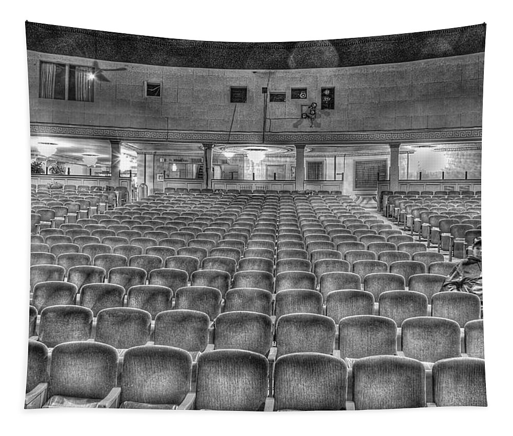 Tapestry featuring the photograph Senate Theatre Seating Detroit MI by Nicholas Grunas