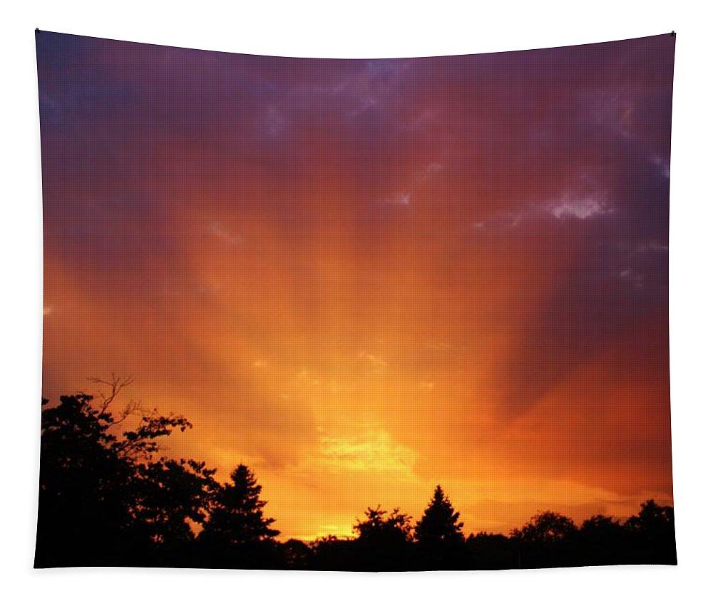 Karen Silvestri Tapestry featuring the photograph September Sunset by Karen Silvestri