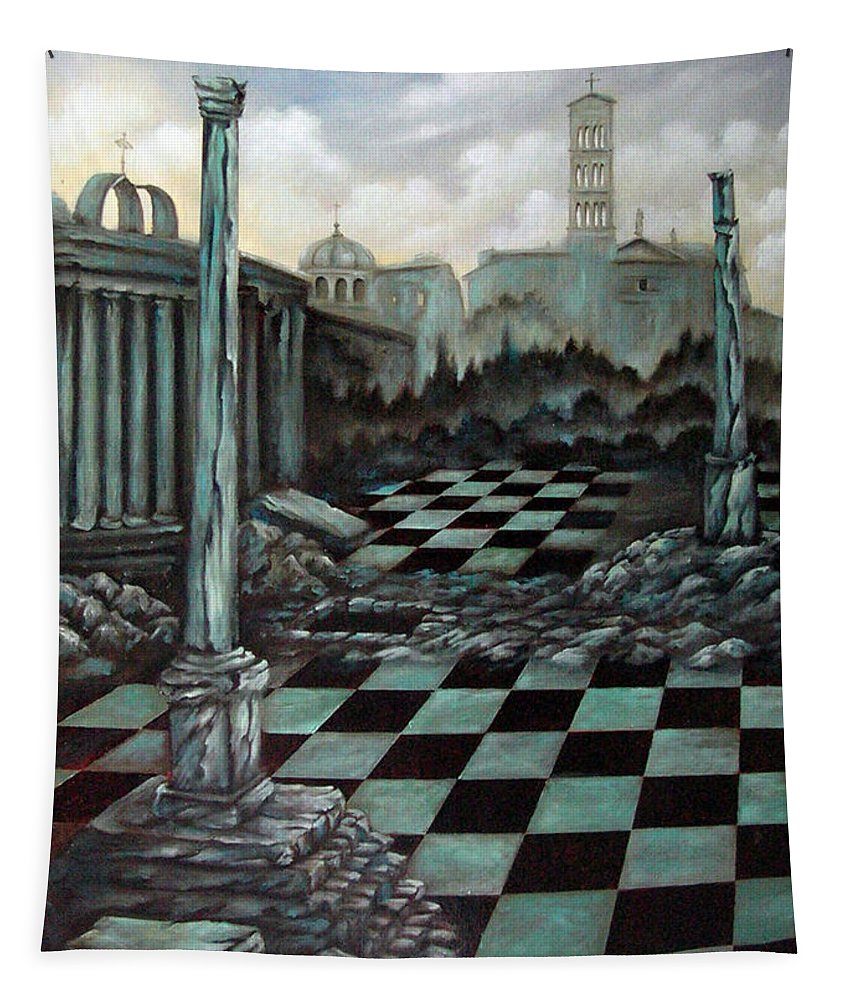 Surreal Tapestry featuring the painting Sepulchre by Valerie Vescovi