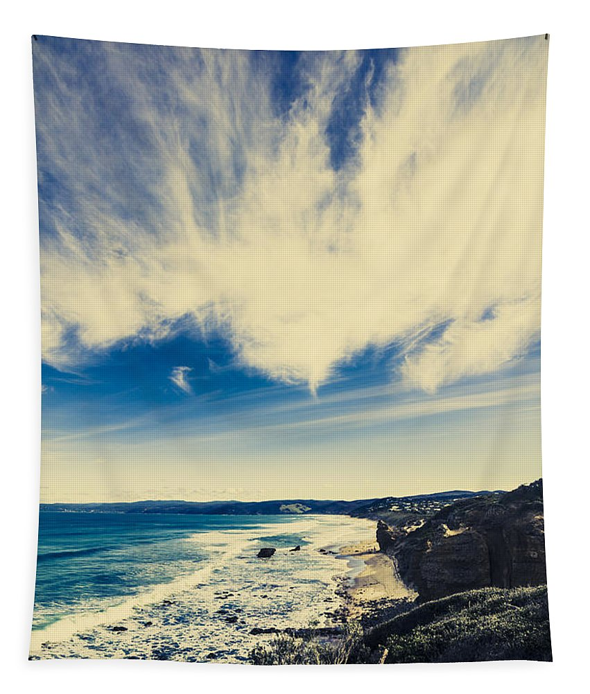 Victoria Tapestry featuring the photograph Serene Victoria Coastline by Jorgo Photography - Wall Art Gallery