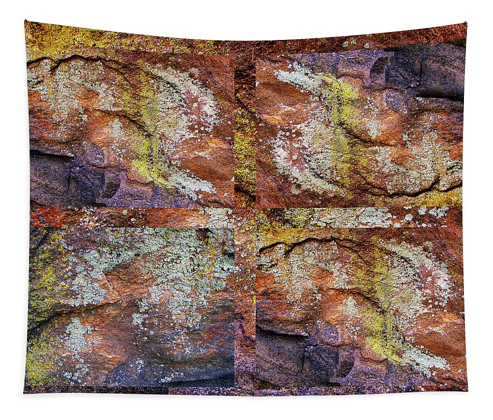 Collage Tapestry featuring the photograph Set In Stone by Jessica Jenney