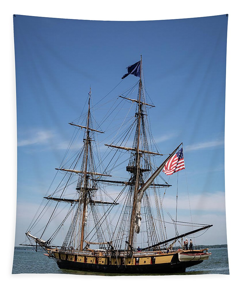 Setting Out To Sail Tapestry featuring the photograph Setting Out To Sail by Dale Kincaid