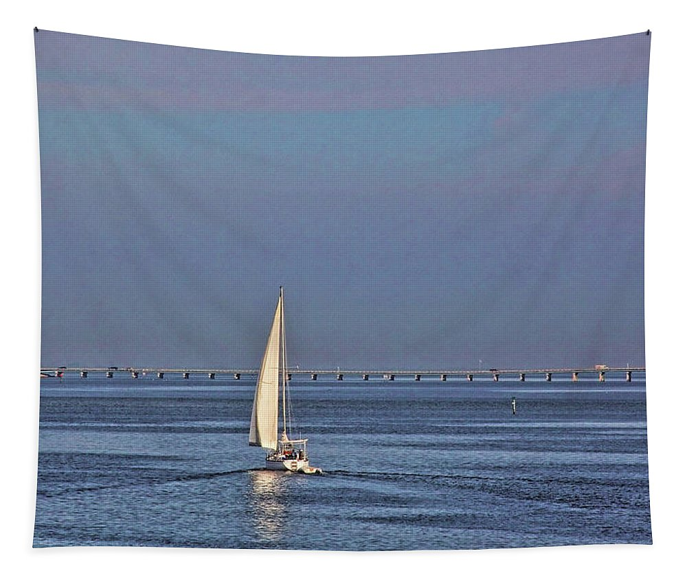 Sailing Tapestry featuring the photograph Setting Sail 2 by HH Photography of Florida