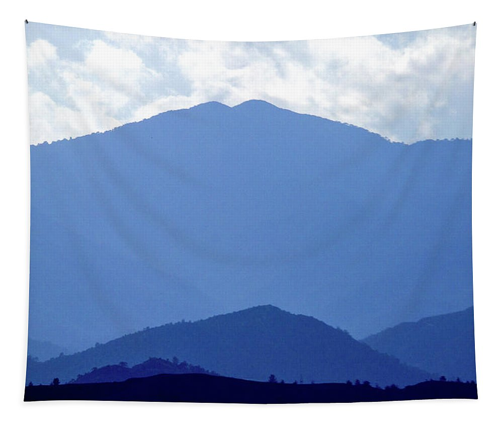 Mountain Tapestry featuring the photograph Shades Of Blue by Stelios Kleanthous