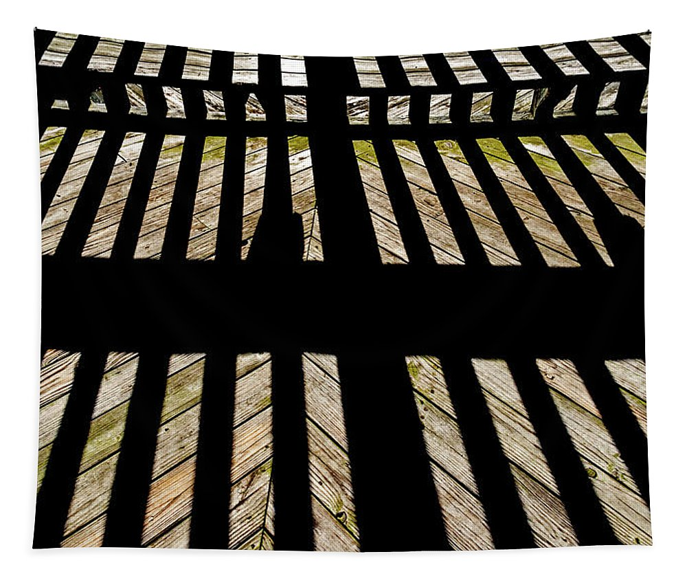 2d Tapestry featuring the photograph Shadows And Lines - Semi Abstract by Brian Wallace