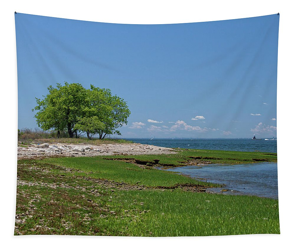 Sheffield Island Coast Tapestry featuring the photograph Sheffield Island Coast by Karol Livote