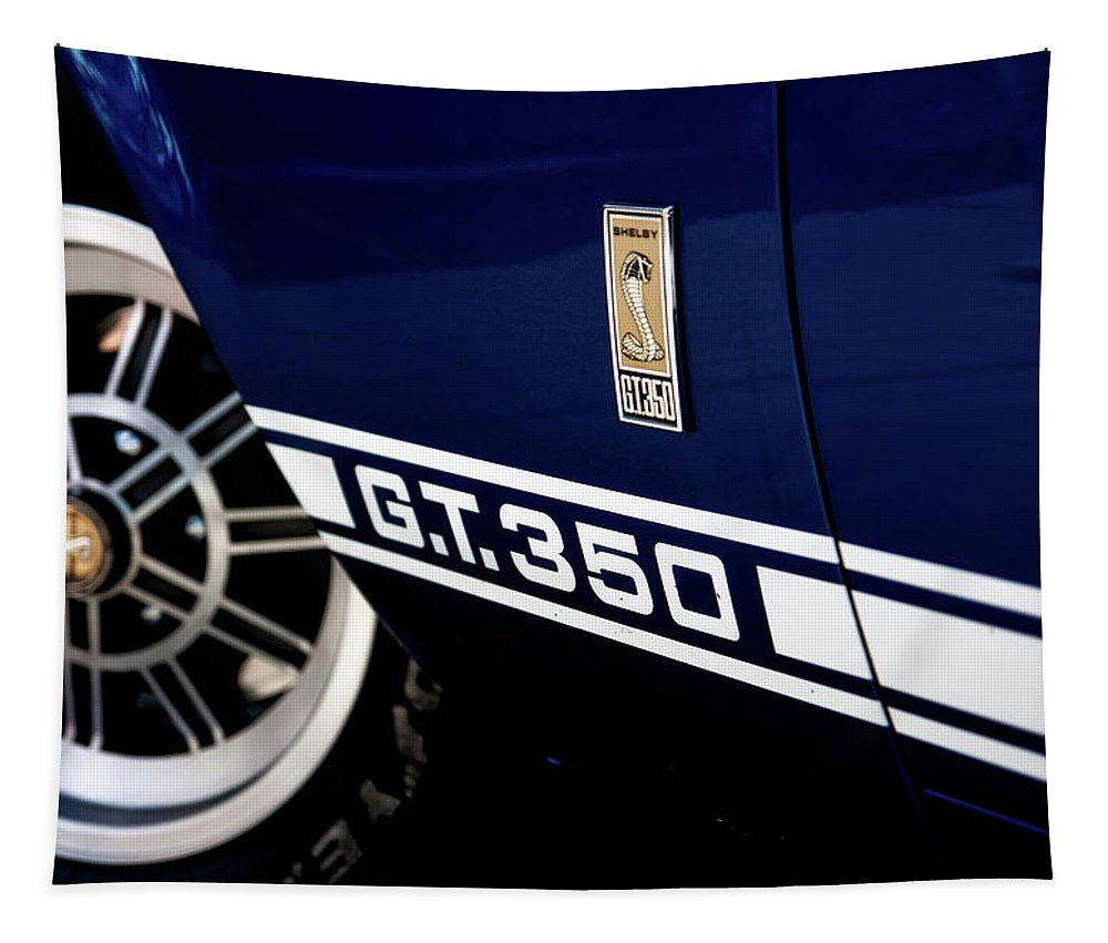 Shelby Mustang Tapestry featuring the photograph Shelby Mustang G T 350 Cobra by Pixabay