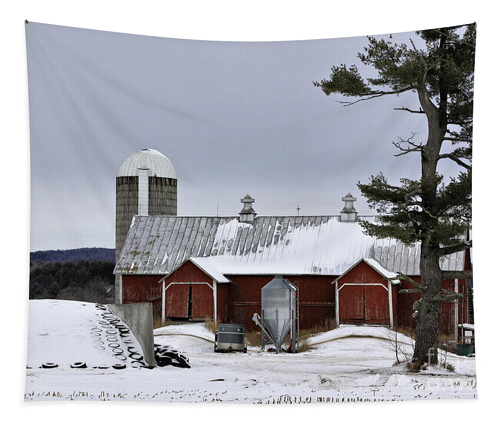Rural Tapestry featuring the photograph Sheldon Barn by Deborah Benoit