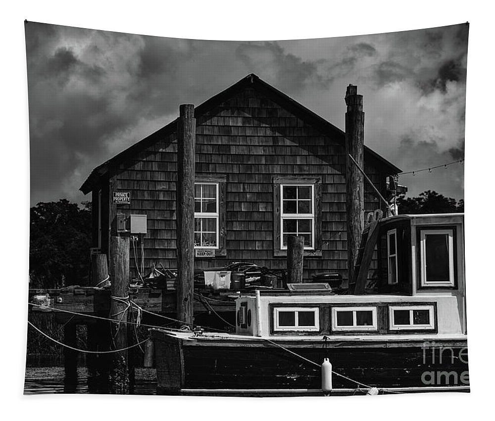 Shem Creek Tapestry featuring the photograph Shem Creek Heritage by Dale Powell