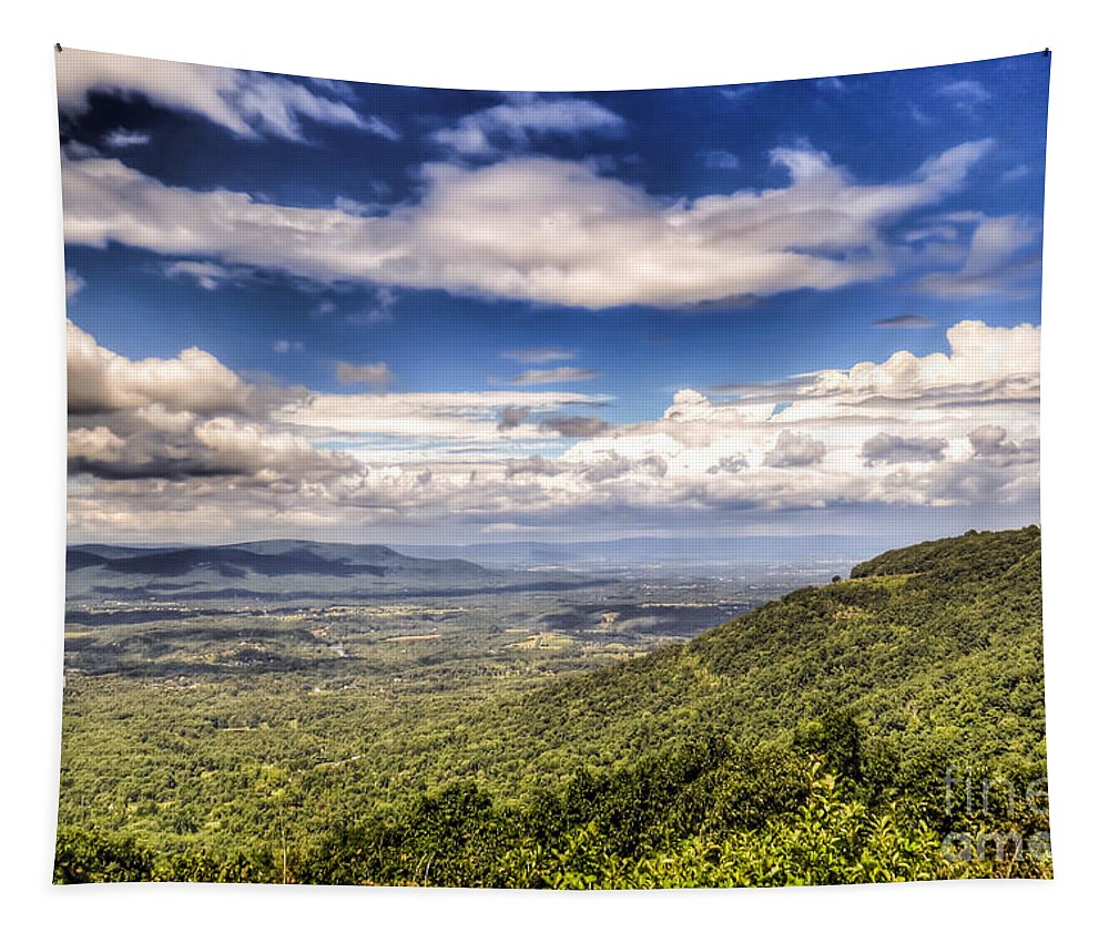 Shenandoah National Park Tapestry featuring the photograph Shenandoah National Park - Sky And Clouds by Kerri Farley