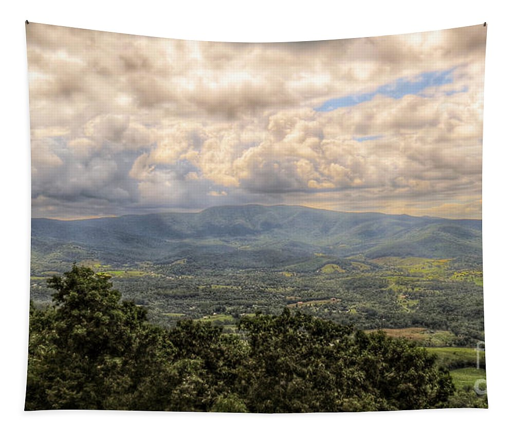 Shenandoah Valley Tapestry featuring the photograph Shenandoah Valley - Storm Rolling In by Kerri Farley