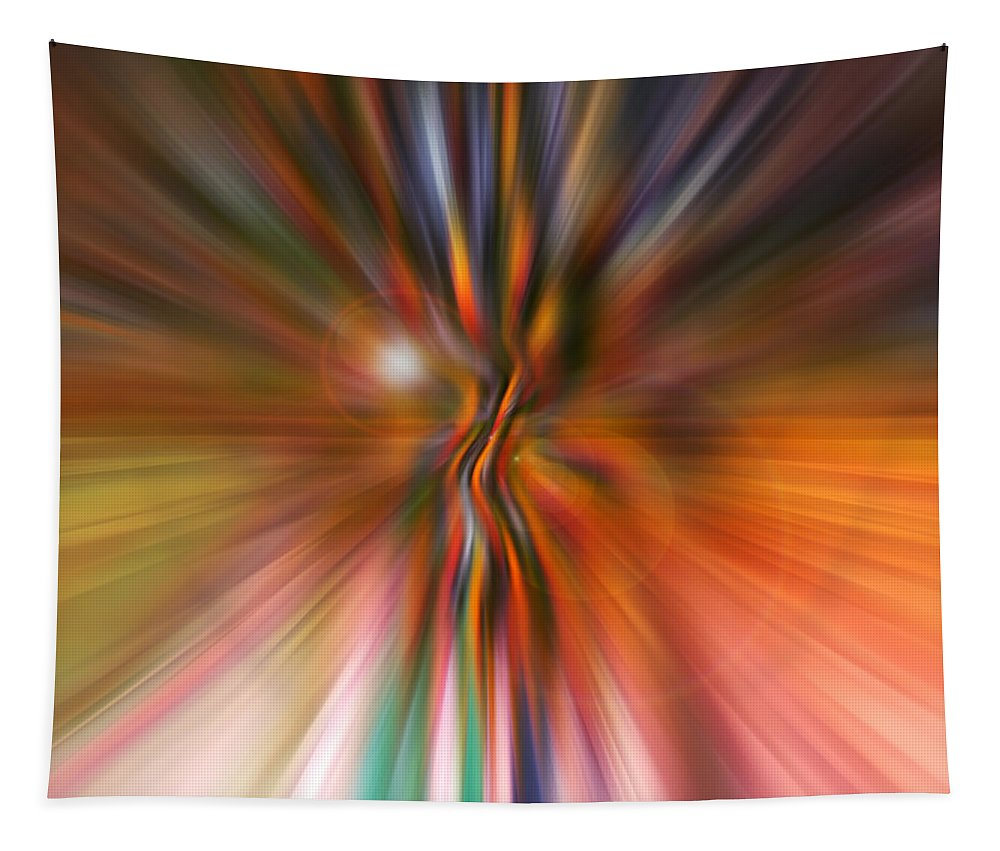 Abstract Art Tapestry featuring the digital art Shine On by Linda Sannuti