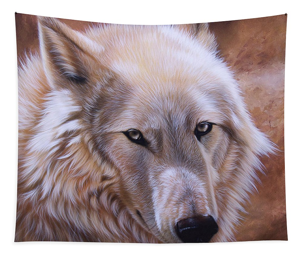 Acrylic Tapestry featuring the painting Shine by Sandi Baker