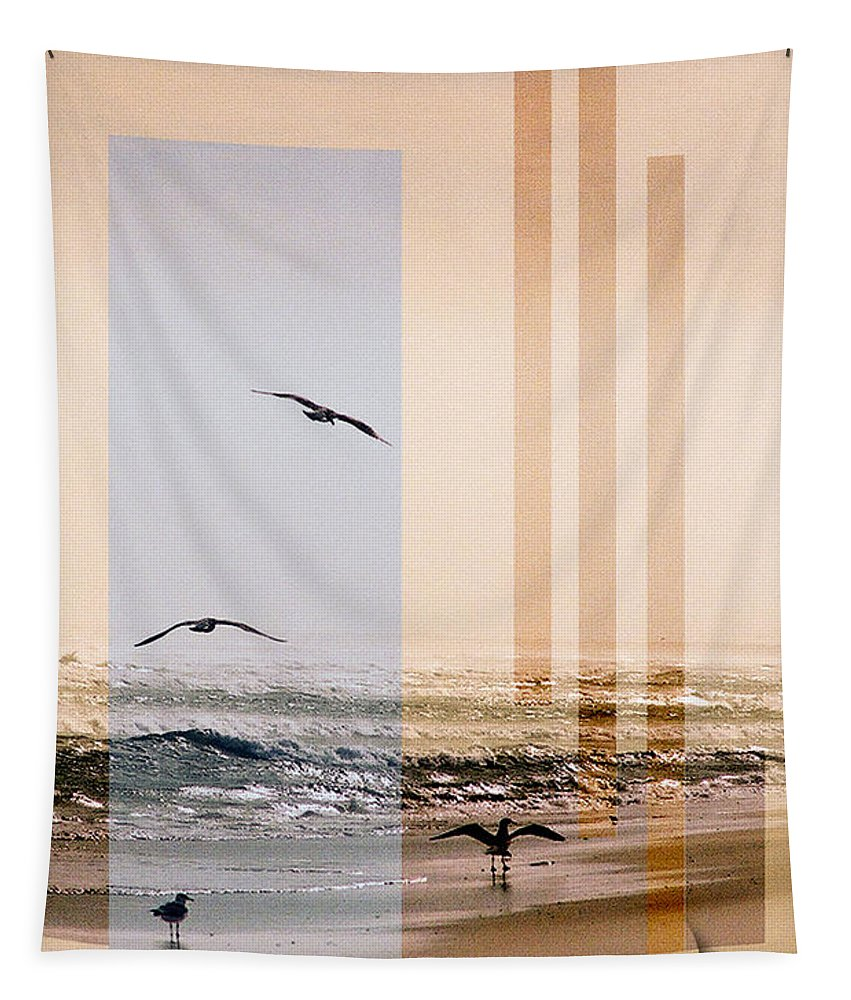 Abstract Tapestry featuring the photograph Shore Collage by Steve Karol