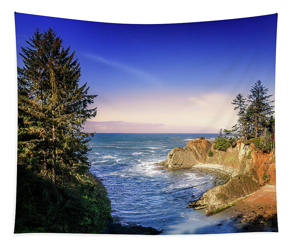 Water Tapestry featuring the photograph Shores Acres Cove by Chris Sveen