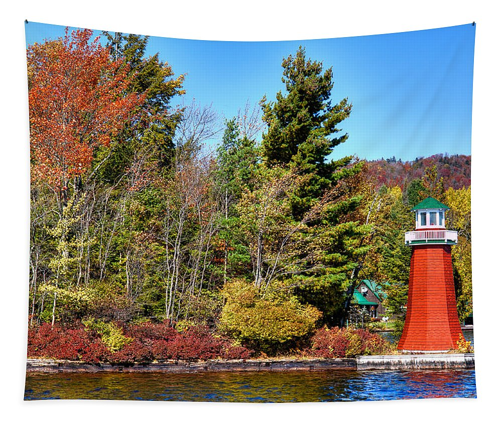 Shoul Point Lighthouse Tapestry featuring the photograph Shoul Point Lighthouse - Old Forge by David Patterson