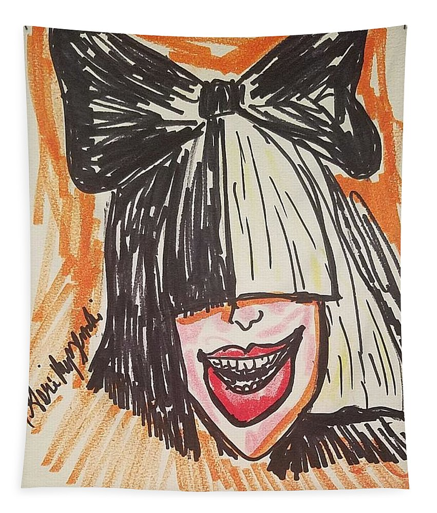 Sia Tapestry featuring the painting SIA by Geraldine Myszenski
