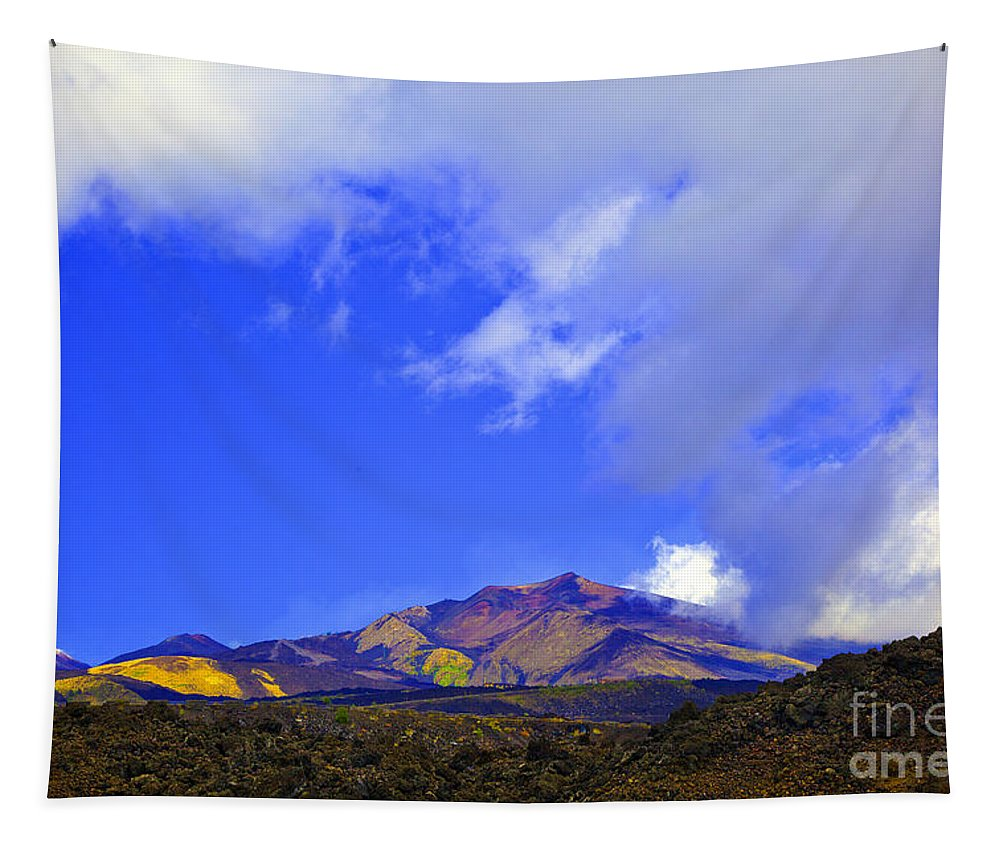 Mountains Tapestry featuring the photograph Sicily Mountain Top by Madeline Ellis