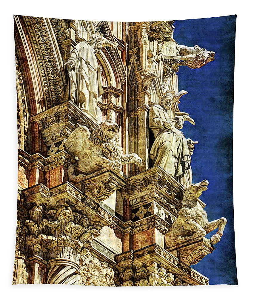 Siena Tapestry featuring the photograph Siena Duomo Statues 1 by Weston Westmoreland