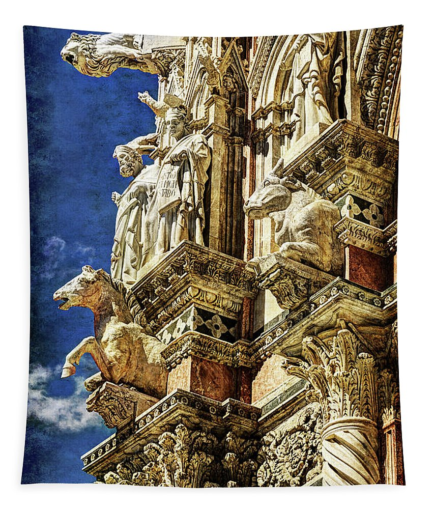 Siena Tapestry featuring the photograph Siena Duomo Statues 2 by Weston Westmoreland