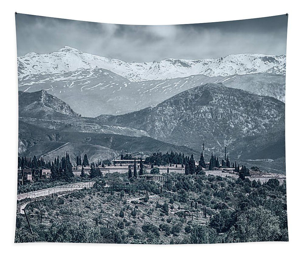 Joan Carroll Tapestry featuring the photograph Sierra Nevada Blue View by Joan Carroll