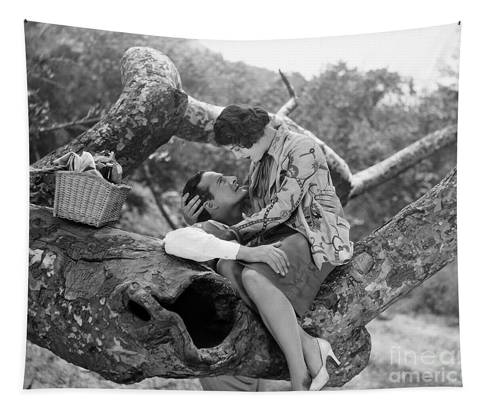 -picnic- Tapestry featuring the photograph Silent Film Still: Picnic by Granger