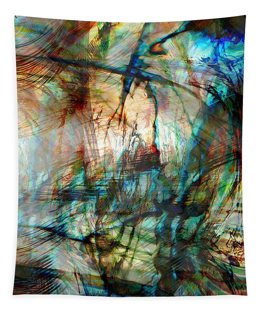 Silent Warrior Tapestry featuring the digital art Silent Warrior by Linda Sannuti