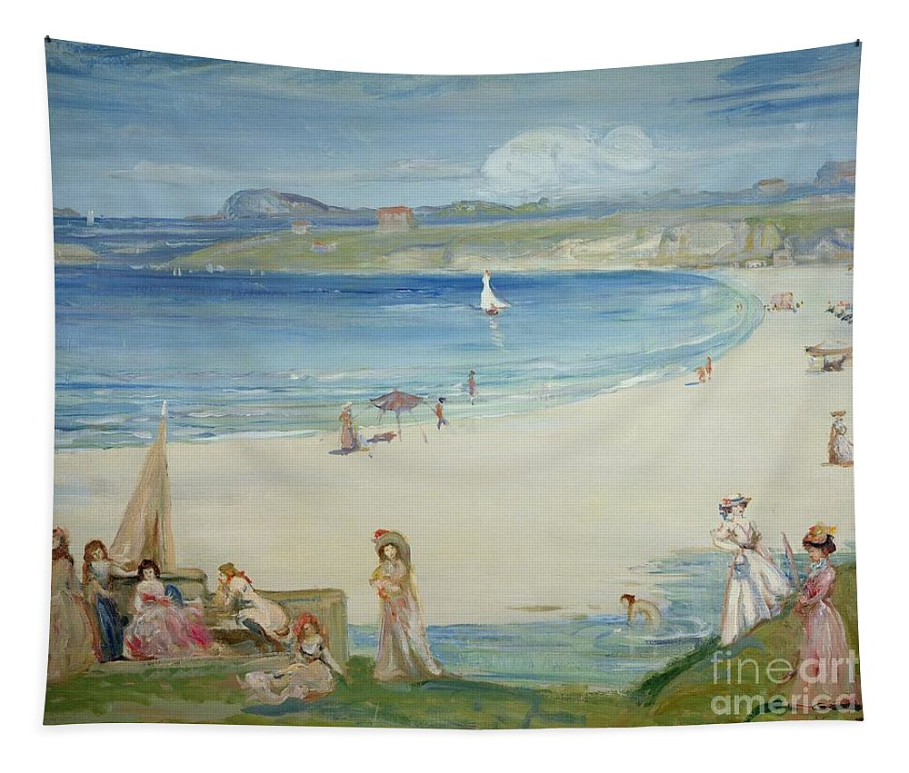 Silver Tapestry featuring the painting Silver Sands by Charles Edward Conder