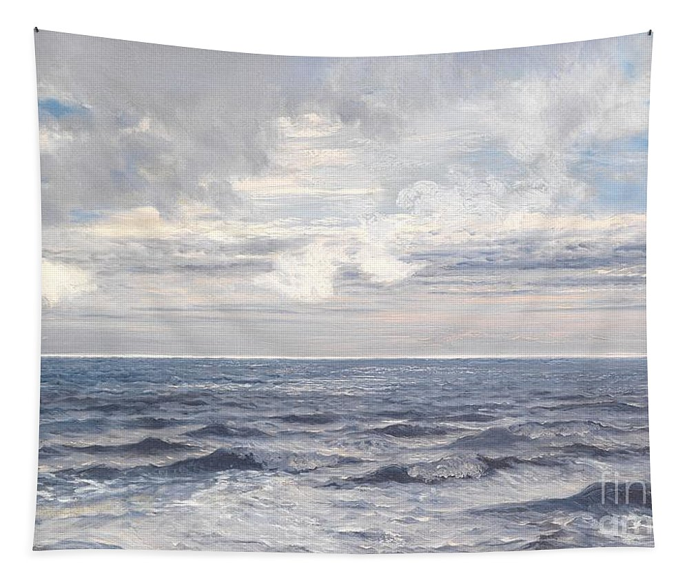 Seascape Tapestry featuring the painting Silver Sea by Henry Moore