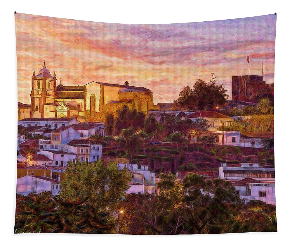 Portugal Tapestry featuring the photograph Silves Dusk by Mikehoward Photography
