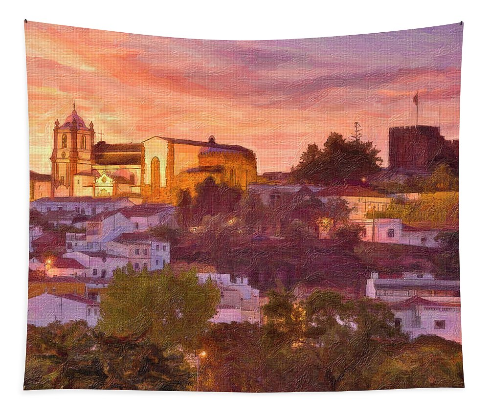 Portugal Tapestry featuring the photograph Silves, The Algarve by Mikehoward Photography