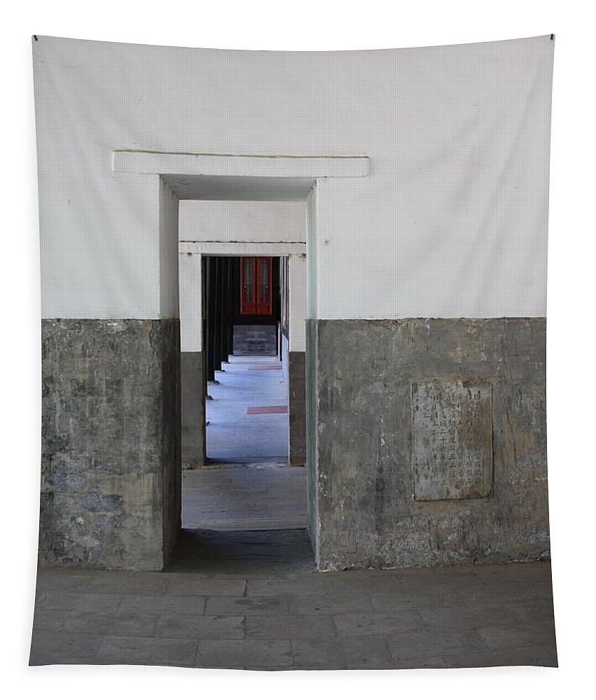 Temple Doors Tapestry featuring the photograph Simplicity by Carol Groenen