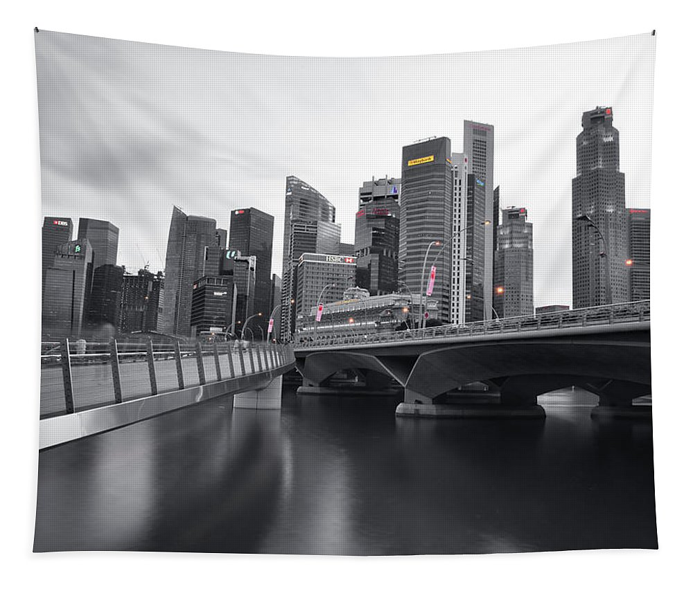 Singapore Tapestry featuring the photograph Singapore by Edwin Verin