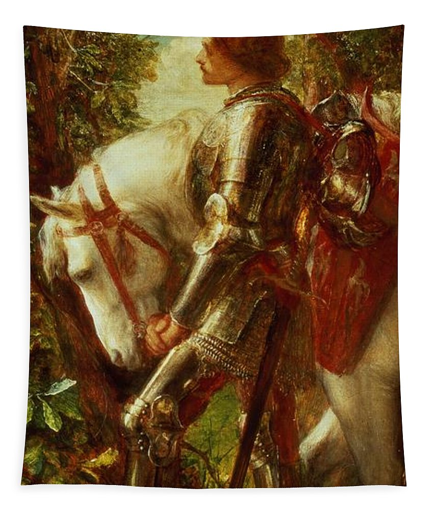 Arthur Tapestry featuring the painting Sir Galahad by George Frederic Watts