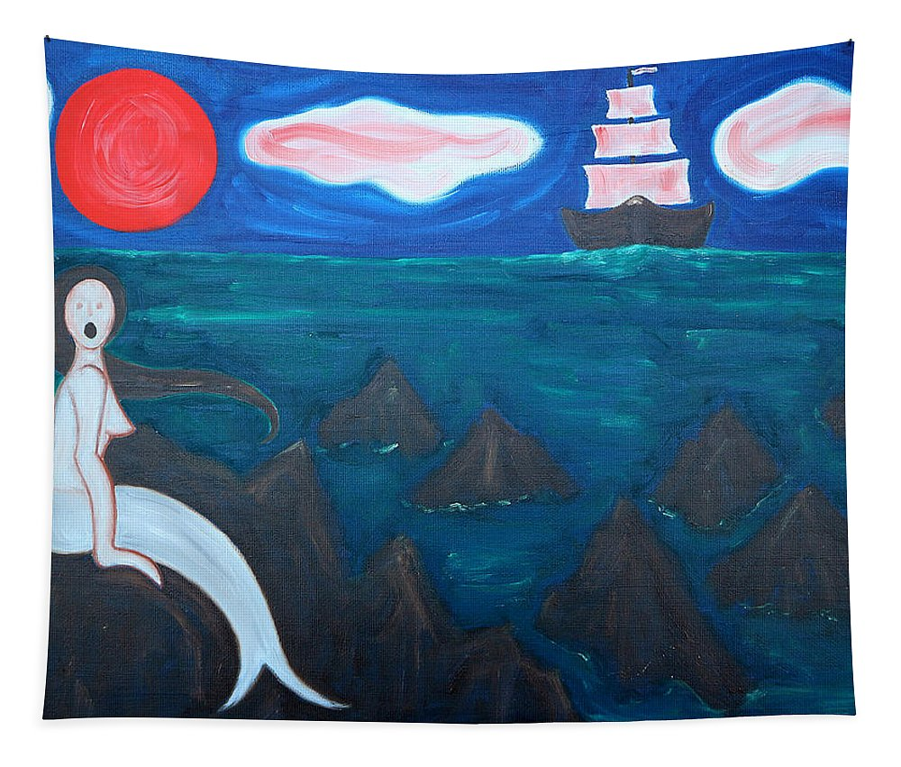 Siren Tapestry featuring the painting Siren by Patrick J Murphy