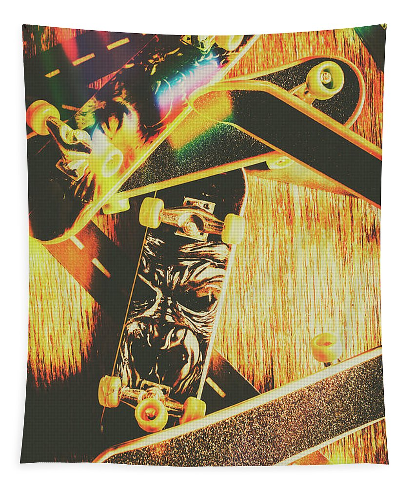 Skateboard Tapestry featuring the photograph Skateboarding Tricks And Flips by Jorgo Photography - Wall Art Gallery
