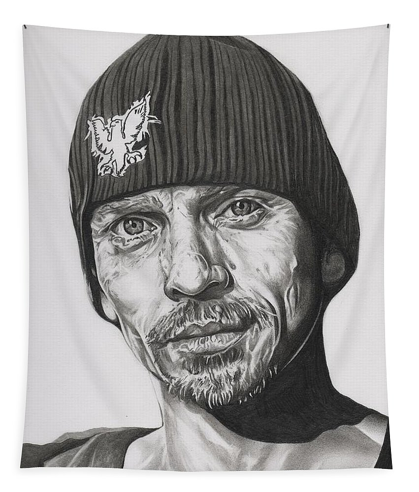 Breaking Bad Tapestry featuring the drawing Skinny Pete Breaking Bad by Fred Larucci