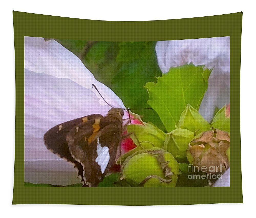 Skipper Tapestry featuring the photograph Skipper Number Five by Debra Lynch