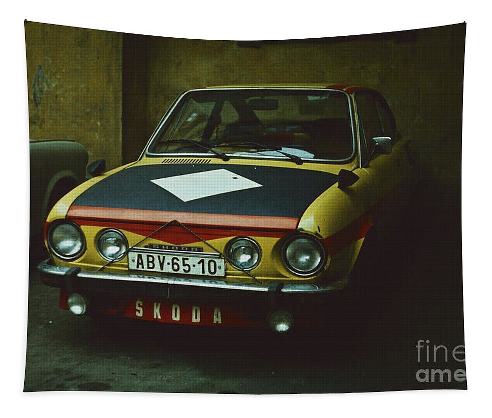 Czechoslovakia Tapestry featuring the photograph Skoda 110r Coupe by Oleg Konin