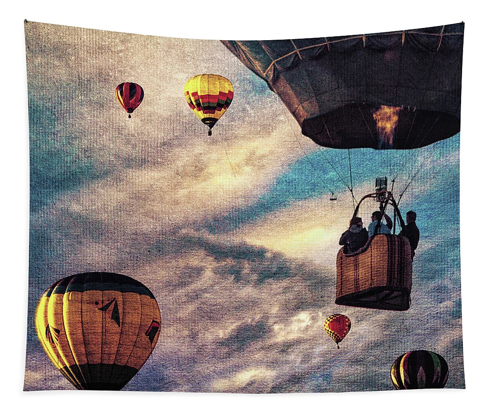 Hot Air Balloon Tapestry featuring the photograph Sky Caravan Hot Air Balloons by Bob Orsillo