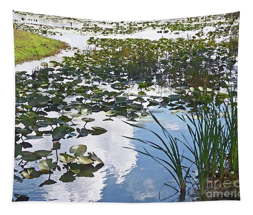 Landscape Tapestry featuring the photograph Sky Reflections by Sharon Eng