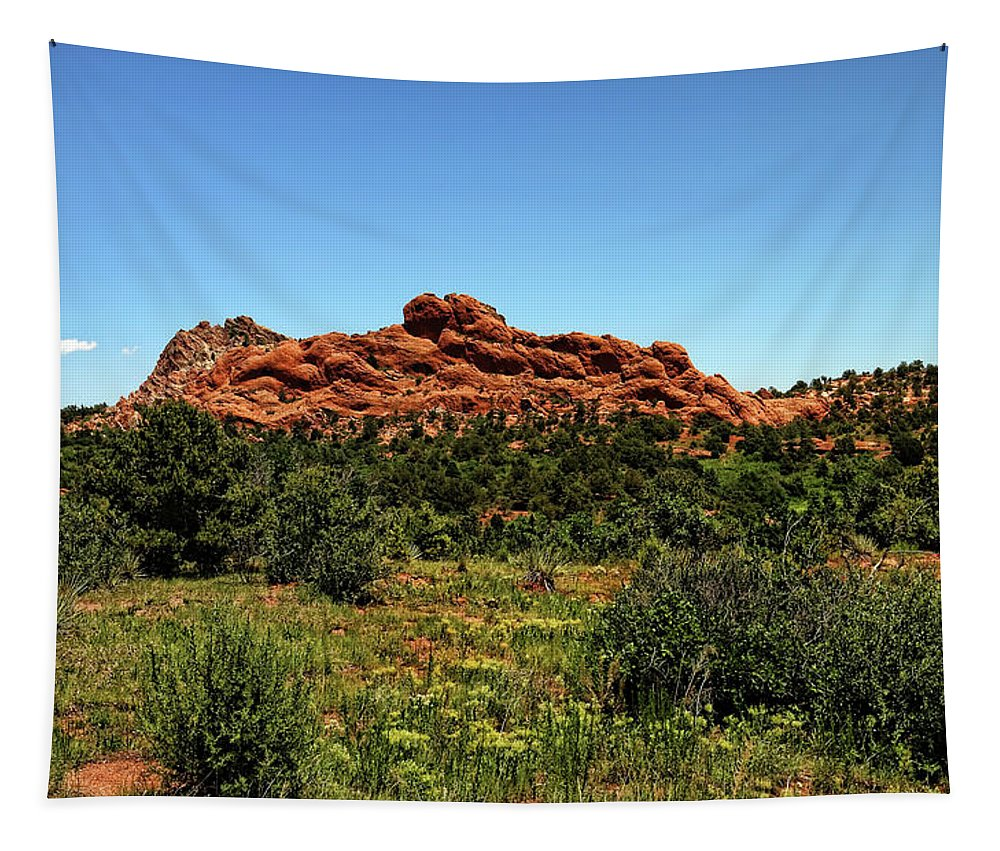 Colorado Tapestry featuring the photograph Sleeping Giant At The Garden Of The Gods by Judy Vincent